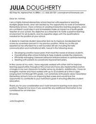 Example Of Education Cover Letters Higher Education Cover Letter Sample Under Fontanacountryinn Com