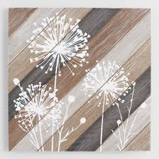 dandelions on wood wall art on rustic white wood wall art with rustic wall hanging decor world market