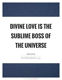 Divine Love Quotes Inspiration Divine Love Is The Sublime Boss Of The Universe Picture Quotes