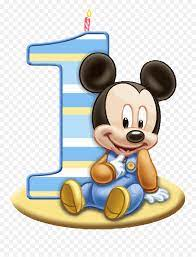 Baby Mickey One Clipart Png - Mickey Mouse Baby 1st Birthday,Mickey Png -  free transparent png images - pngaaa.com