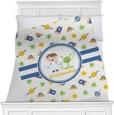 boy s space themed blanket personalized