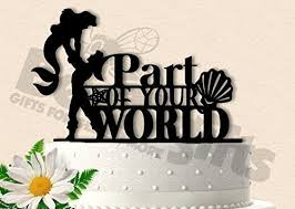 Small Picture Amazoncom Ariel and Eric Part of your World Inspired Wedding
