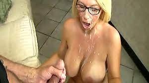 Blonde Glasses Big Tits