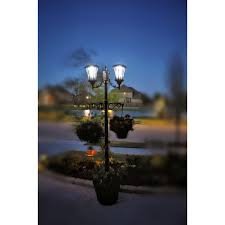 Sun Ray Martens Solar Lamp Post And Planter