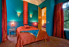 Moroccan Colorful Bedroom Decorating In Purple Orange And