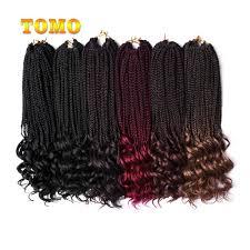 18 Inch Hair Chart Tomo 18 Inch Crochet Hair Box Braids Curly Ends Ombre