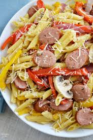 need a quick dinner recipe try this smoked sausage penne pasta recipe that can be