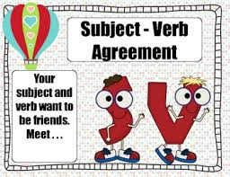 Subject And Verb Agreement Anchor Chart Subject Verb Agreement Where Subject And Verb Agree To Be Friends