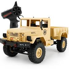 New Arrival Wpl Wplb 1 Rc Military Truck 1 :16 2 .4g 4wd Crawler Rc ...