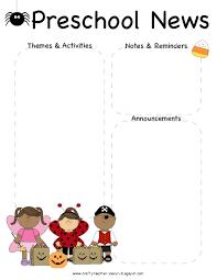 october newsletter ideas preschool halloween newsletter template