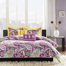 intelligent design melissa comforter set this purple and yellow paisley