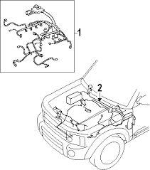 parts com® land rover lr3 wiring harness oem parts 2008 land rover lr3 hse v8 4 4 liter gas wiring harness
