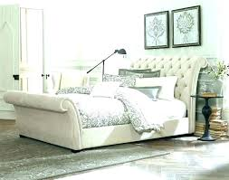room s leather tufted king bed black upholstered
