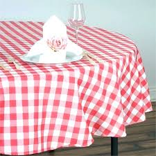 red gingham plastic tablecloth round pink hot party supplies tablecloths checd polyester rou red gingham tablecloth nz round