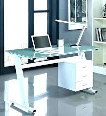 modern glass computer desk large home office desk l desk with storage office desk glass white