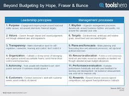 beyond budgeting principles processes toolshero