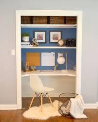 home office in a closet. Closet Desk Makeover, Closet, Home Office, Painting, Storage Ideas Office In A