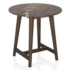 Short end table Wooden Tomo Short End Table Brown Marble Snugglers Furniture Tomo Short End Table Brown Marble Cantoni Cantoni