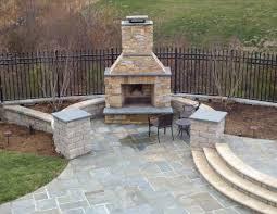 beautiful flagstone patio and fire area