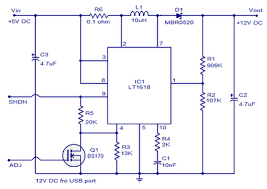 extreme circuits s electrical engineering blog eeweb community using this circuit we can convert 5v dc from the computer usb port to 12v dc and a circuit like this will a lot of application in usb powered systems