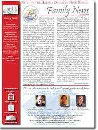 family newsletter family newsletter st john the baptist diocesan high school