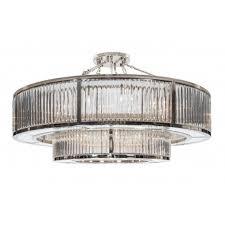 garnet two tier crystal and nickel chandelier