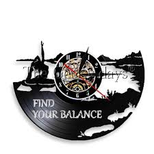 1piece Find Your Balance Yoga Inspiration Quotes Wall Art Led Night