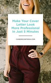 This 5 Minute Cover Letter Design Trick Makes You More