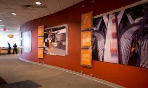 corporate office lobby. custom exhibits environment intelligrated 1 2 corporate office lobby