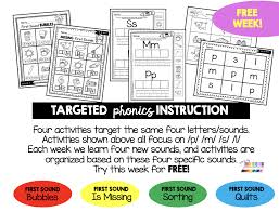 Teach kids to read with fun phonics activities, phonics videos, phonics worksheets, phonics games online, learn to read, reading activities, preschool reading activities, print awareness. Teaching First Sounds Complete Unit With Freebies Keeping My Kiddo Busy