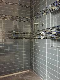 unusual glass tile for shower floor d1804802 glass tile with glass accent band around shower cleaning