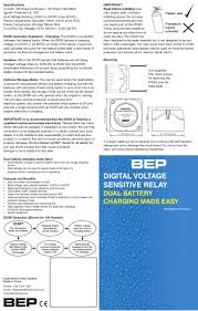 bep digital voltage sensitive relay user manual