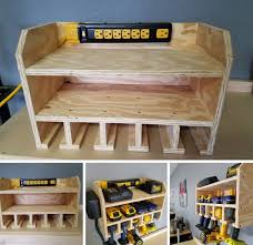 Charging Station Shelf Power Tool Charging Station Pinterest