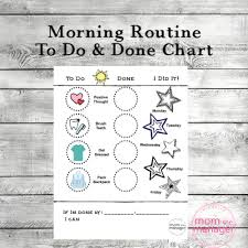 Morning Routine Task And Start Reward Chart 3