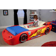 Lightning Mcqueen Bedroom Furniture Delta Children Disney Cars Convertible Toddler To Twin Bed With