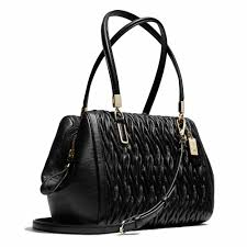 Coach    MADISON SMALL MADELINE EAST WEST SATCHEL IN GATHERED TWIST LEATHER