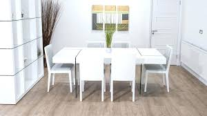oak and glass dining table large white and glass dining table and white dining chairs rio