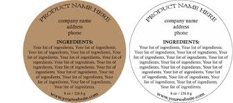 Ingredients Label Template Round Customized Ingredient Label Design Style 2 Usually Ships Within 24 48 Hrs