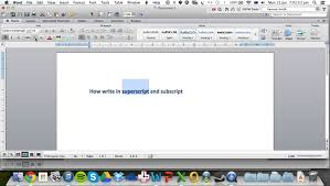superscript and subscript in microsoft word for mac 2016