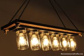 every dining room needs one of these diy mason jar light fixtures