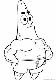 Spongebob Squarepants Patrick Star Coloring Pages Printable For
