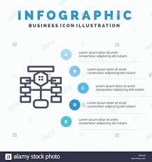 Flowchart Flow Chart Data Database Blue Infographics
