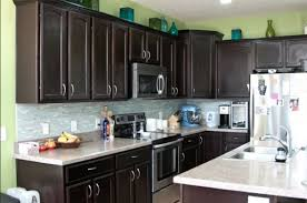 dark kitchen cabinets. Dark Kitchen Cabinets With Light Granite Countertops