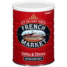 Chicory Coffee French Market Medium Dark Roast Ground Chicory Coffee 12 Oz
