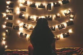 using strings of lights for decor