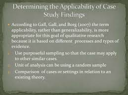 Analysis of the applicability of the case study results ResearchGate