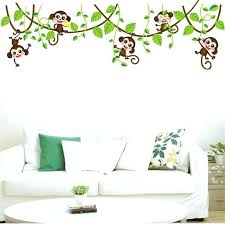 jungle wall stickers jungle wall decals jungle monkey tree branch wall stickers for kids room home