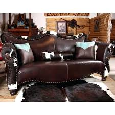 western leather sectional sofa best images on furniture cowhide cabin rustic western leather furniture