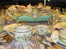 Table Setting In French Fabbys Living Fabby Sea Inspired Dinner Table