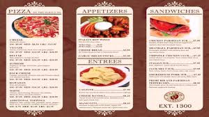 Restaurant Menu Design Templates Restaurant Menu Design Templates Word Youtube
